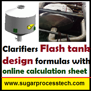 Flash tank design formulas with online calculation sheet -sugarprocesstech