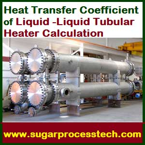 calculation of heat transfer coefficient for shell and tube heat exchanger