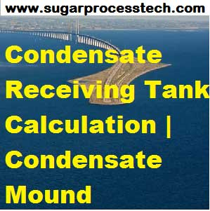 Condensate Receiving Tank Design Calculation | Condensate Mound | Condensate Receiving & Condensate Flash Recovery tank design