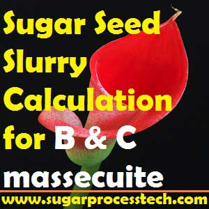 Sugar Seed Slurry Requirement Calculation for B and C massecuite