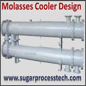 Molasses cooler design concepts and its water requirement calculation.