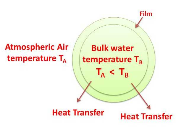 Cooling Tower Theory - Heat is transferred from water drops to the surrounding air | Natural draft water-cooling tower | Basic concepts of cooling tower, types of cooling towers, formula for cooling tower efficiency | Make-up water, Drift Losses, Evaporation losses & Blowdown | sugarprocesstech