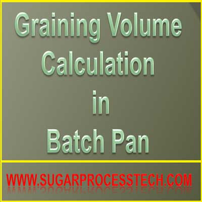 The Concept of Graining Volume of the Batch Pan
