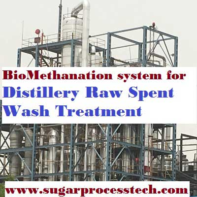 concept and process description of Biomethanation system suitable for Distillery spent wash treatment.