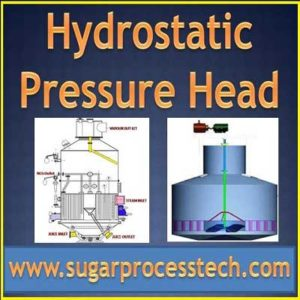 Hydrostatic pressure definition | how to calculate hydrostatic pressure for evaporator and vacumm pans | sugarprocesstech