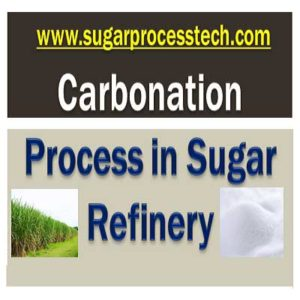carbonation process in sugar refinery with Flow diagram, Filtration process,CO2 Gas scrubbing system for raw melt clarification with carbonation system , Main Equipment Operation and Specifications, and of carbonated liquor.
