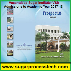 Vasantdada Sugar Institute (VSI) Admissions to Academic Year 2017-18 - sugarprocesstech