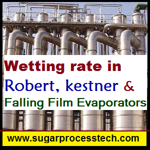 Wetting rate or wetting factor in Evaporators-sugarprocesstech