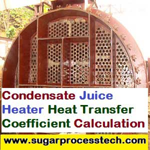 calculation of heat transfer coefficient for shell and tube heat exchanger - condensate juice heater