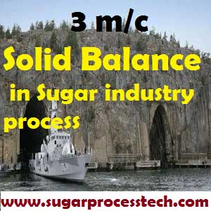 Solid Balance in Sugar industry process | Material Balance Calculation