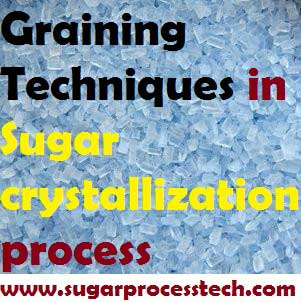 Types of Graining Techniques in sugar crystallization process | Pan Boiling
