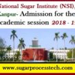 National Sugar Institute ( NSI ), Kanpur | Admission of academic session 2018-19