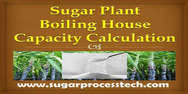 sugar factory boiling house equipment capacity calculations | sugar industry process equipment capacity calculation | sugar mill capacity calculation