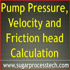 calulation of Pressure head, velocity head, friction head for pump NPSH