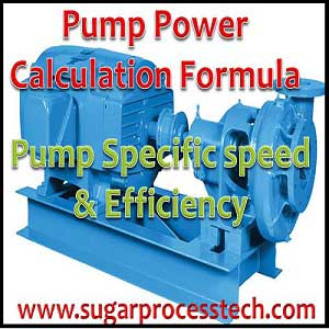 Pump Efficiency and Pump Power Calculation Formulas with Examples