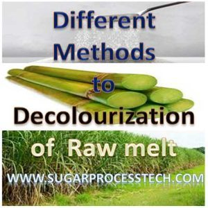 Different methods for Decolourization of Raw melt to Refined sugar Production