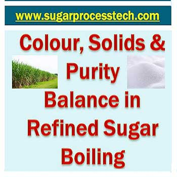 colour, Solid and purity balance and intermediate product colors in Refined Sugar Massecuite Boiling